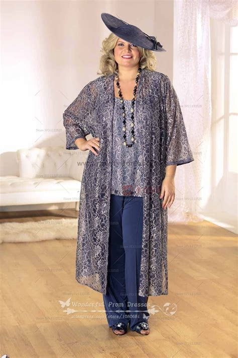 Plus Size Three Piece mother of the bride Wedding Party