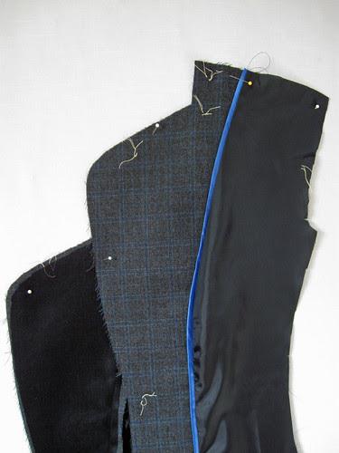 grey jacket upper lapel inside