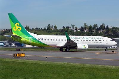Spring Airlines Japan Boeing 737-81D WL N272LM (JA01GR) (msn 39429) BFI (Rick Schlamp). Image: 912049.