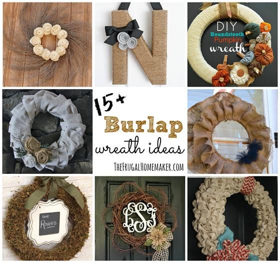 15 Diy Burlap Wreath Ideas