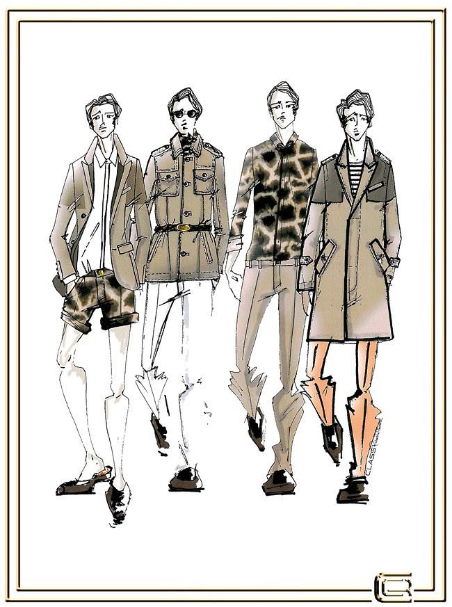 6 CLASS Roberto Cavalli Menswear SS2013