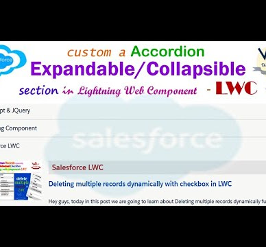 How to display lightning-accordion component that is expandable/collapsible accordion section using lightning-accordion element tags in Salesforce | LWC
