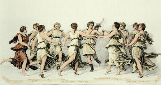 Musas y Apolo