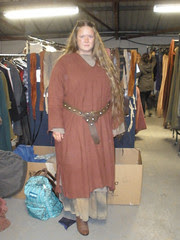 My very last day as a Camelot extra, and costume #9