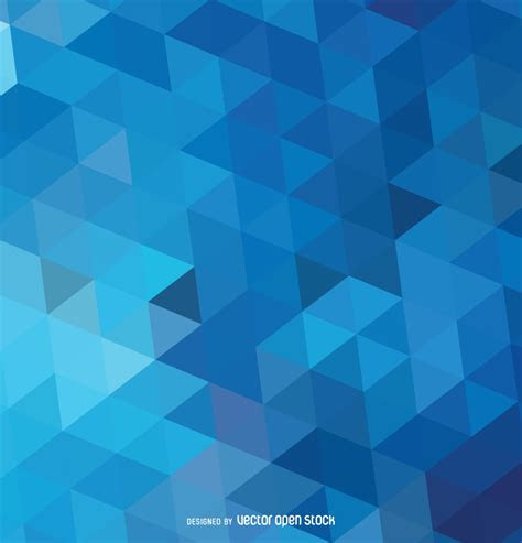 Abstract polygonal blue background   Free Vector