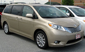 2011 Toyota Sienna photographed in Clarksville...