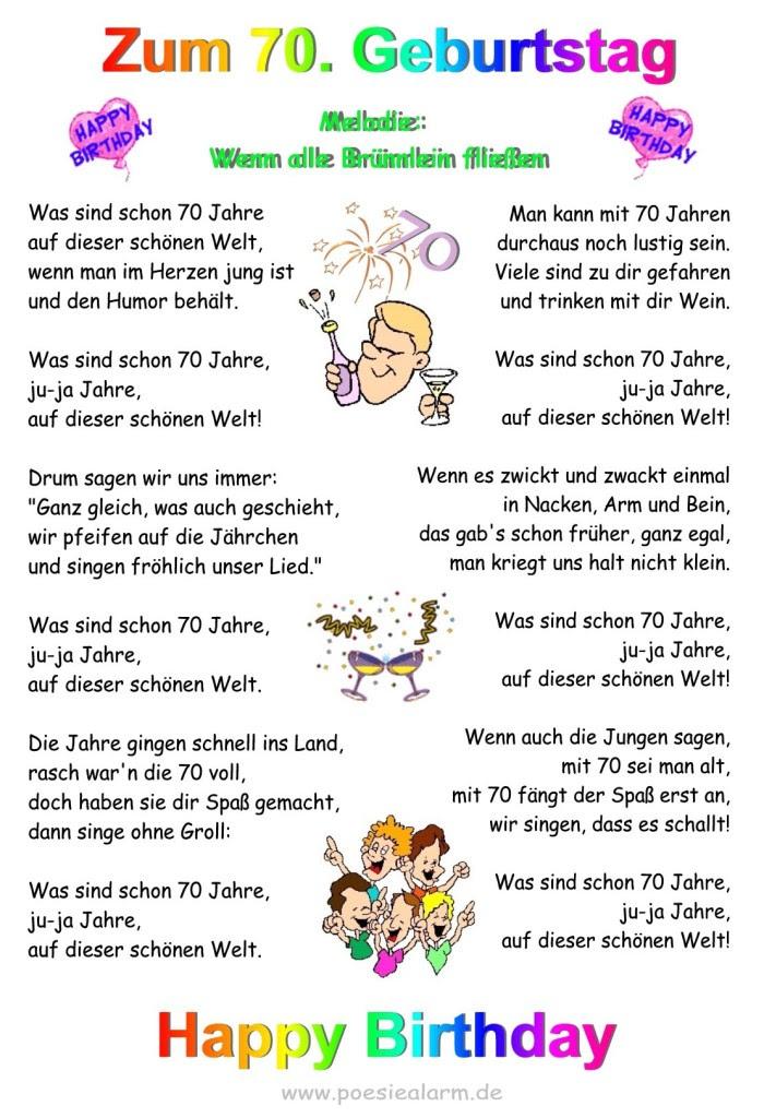 Lustige Sprüche Zum Geburtstag 70