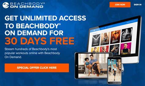 beachbody  trial december  udpate   demand