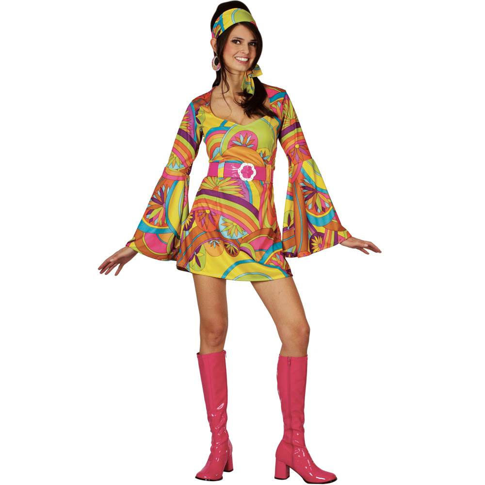 retro 60s 70s groovy gogo girl fancy dress costume  ebay