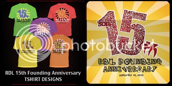 Tshirt Design,RDL Tshirt. RDL !5th Anniversary,RDL Anniversary