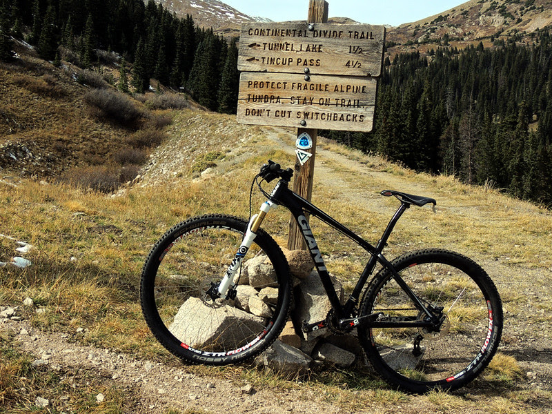 Connector trail to the Continental Divide Trail