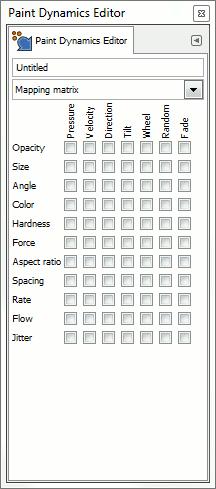Modifica delle dinamiche di disegno