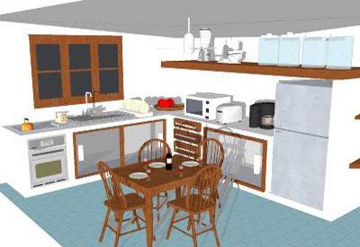 SketchUp Components 3D Warehouse - Kitchen   Sketchup ...