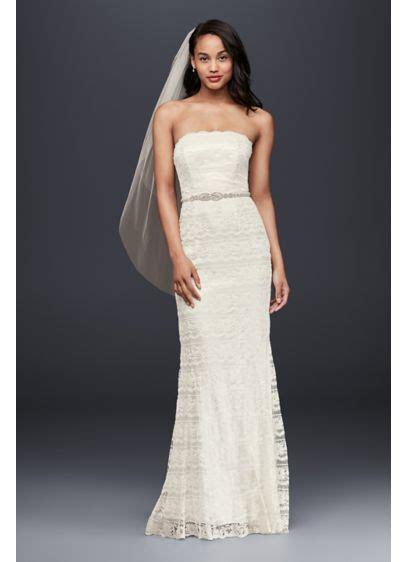 Lace Sheath Wedding Dress with Godet Inserts   David's Bridal