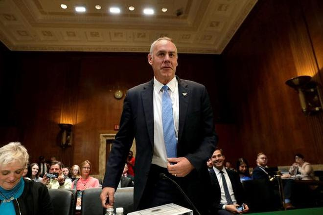 US Interior Secretary Zinke to step down, Trump to name successor next week