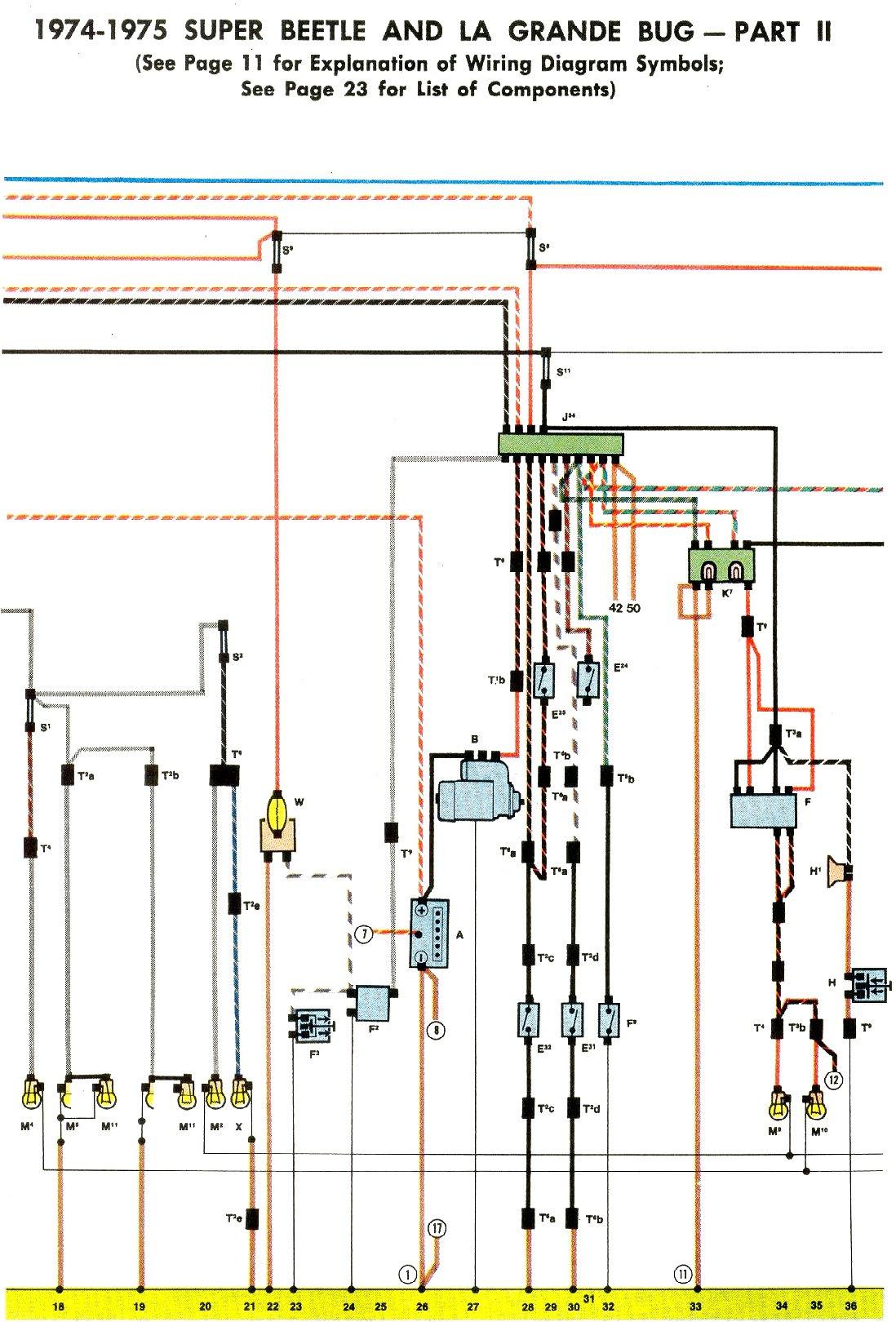 1975 Vw Beetle Wiring Diagram