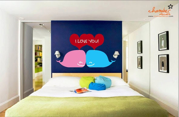 Whales of Love Wall Decal