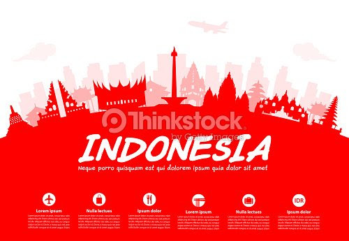 Indonesia Travel Landmarks Vector Art  Thinkstock