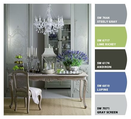 Pears and lavender, gray washed