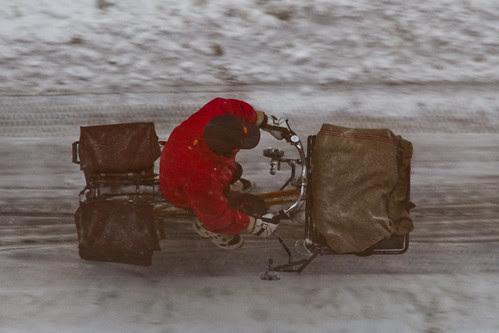 Aerial Winter Bicycle 04 Postman