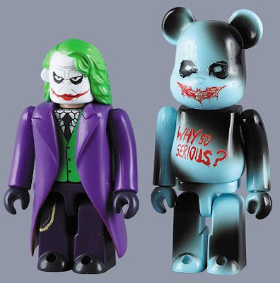 The Dark Knight x Medicom - 100% The  Joker Kubrick and 100% Why So Serious? Be@rbrick Set