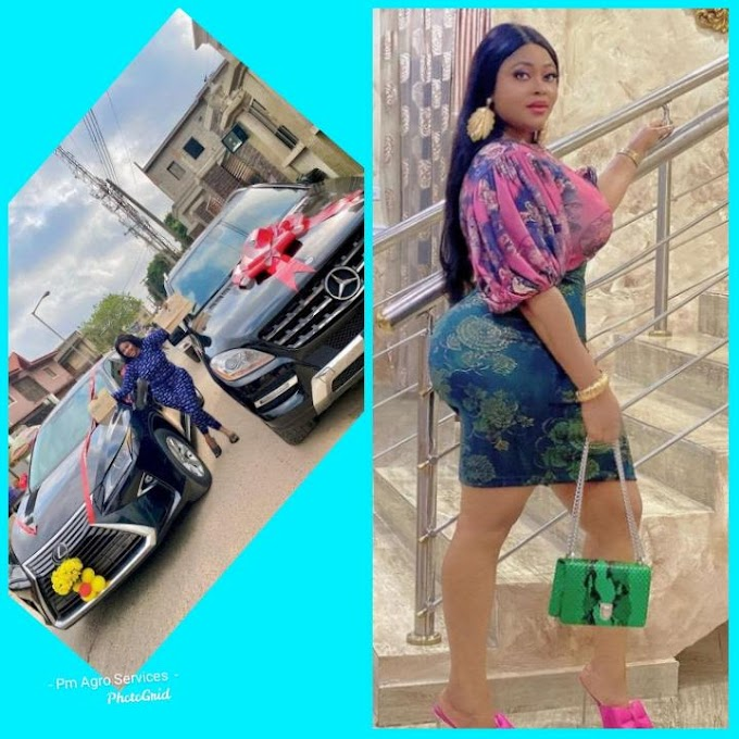 Actress Biodun Okeowo Gift Herself Two Luxury Expensive Cars At the same time (Photos)