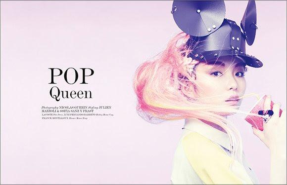 """Revistas Vestal photoshoot apropiadamente titulado """"Reina Pop"""" tiene que ver con la programación Mickey Mouse."""