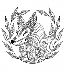 fox head coloring page at getcolorings  free printable colorings pages to print and color