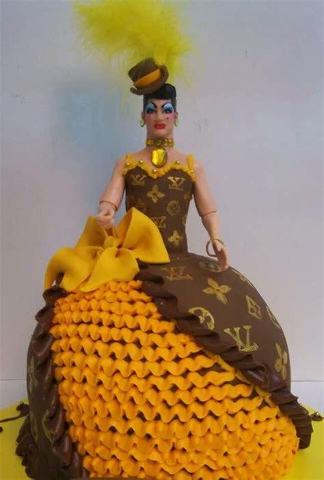 Louis Vitton drag queen cake   le' Bakery Sensual