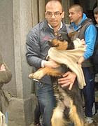 Uno dei cani liberati