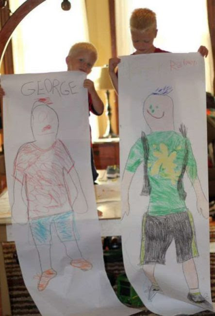 Self Portraits for the Kids First Day of School Outfit