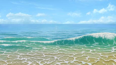 背景浜辺の波と水面の描き方うごイラ モンスターイラストの描き方