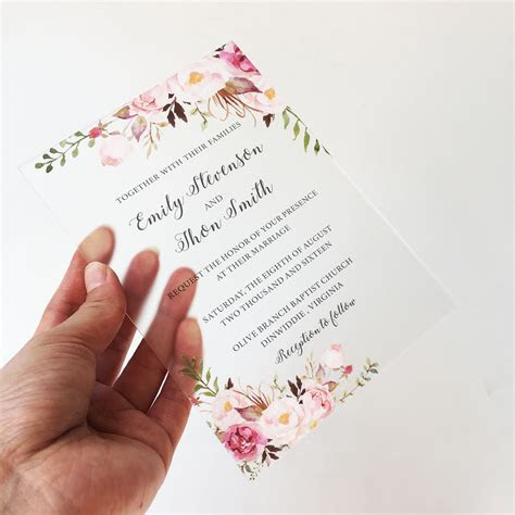 Personalised 50pcs per Lot Rustic Floral Water Color Style