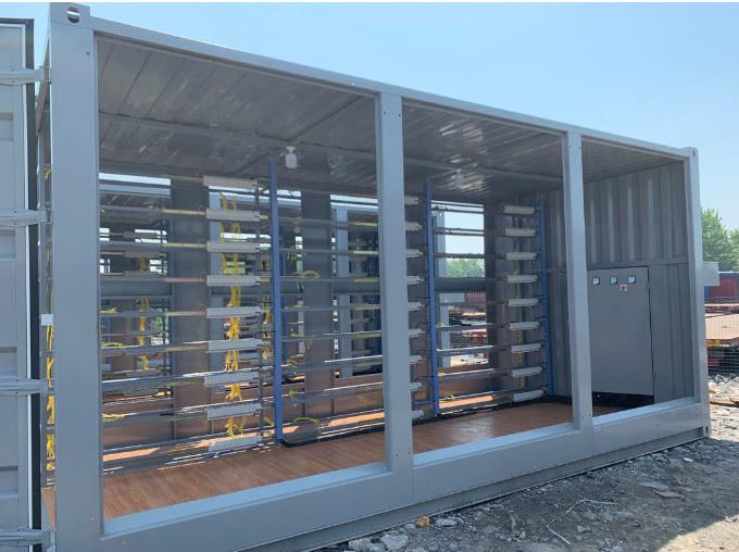 Fan Cooling Bitcoin Server Farm , Mining Rig Farm Internal Single Row Design