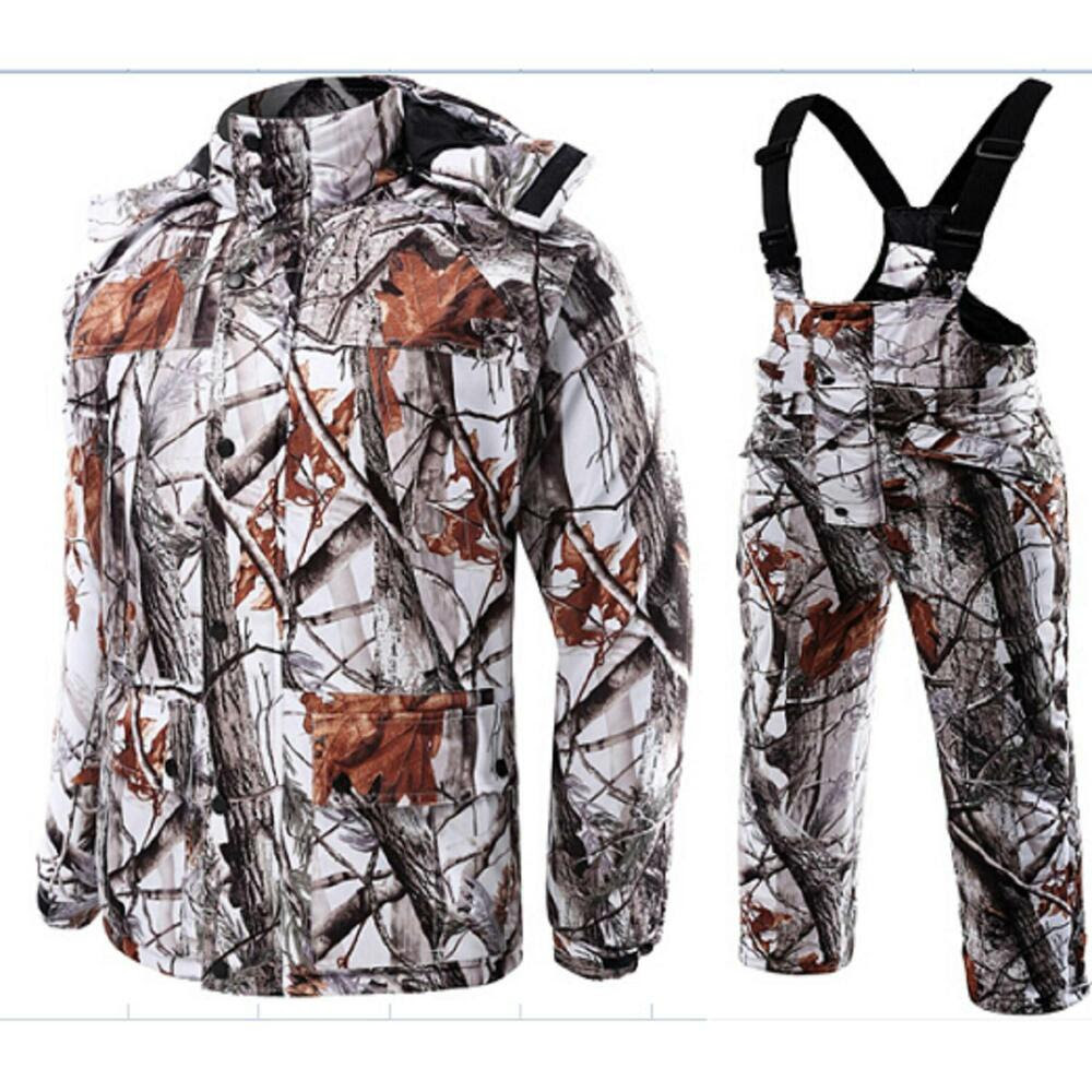 outdoor winter snow camo hunting suits down cotton