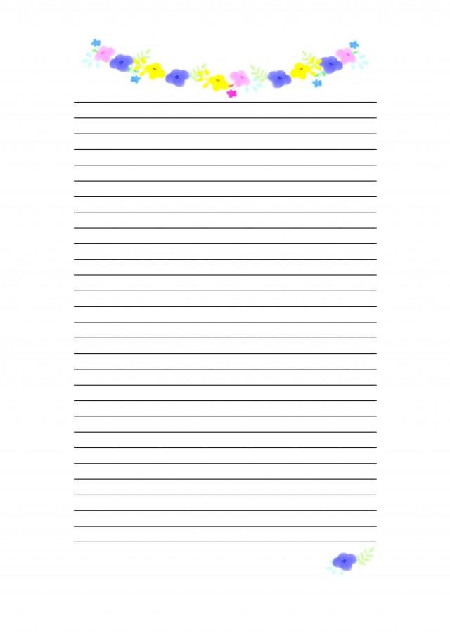 花の便箋 無料の雛形書式テンプレート書き方ひな形の知りたい