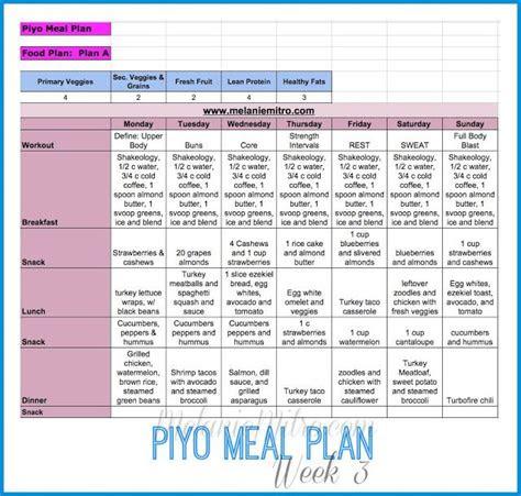 piyo week  progress update meal plan   workout