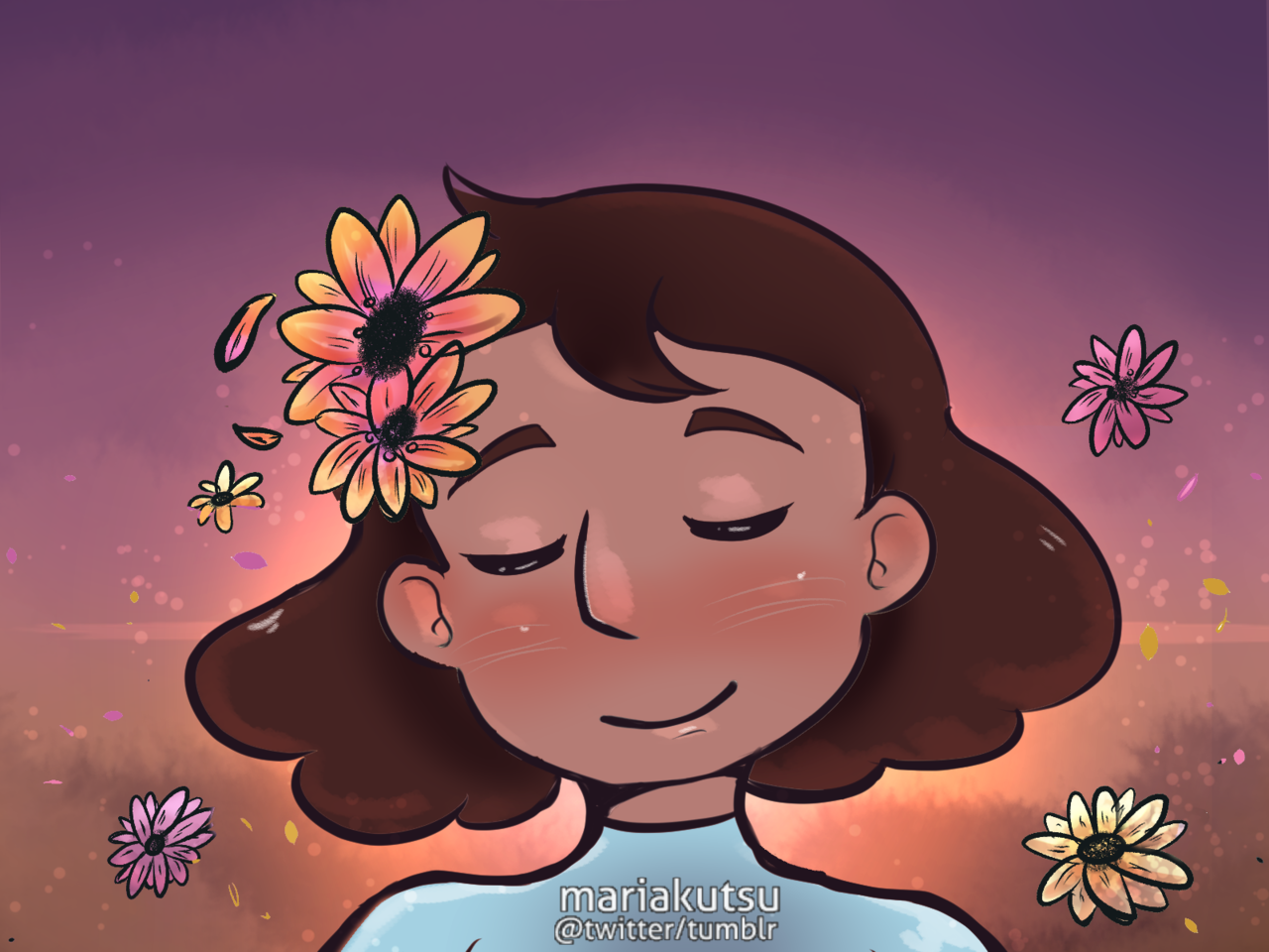 Connie with African Daisies Made for day 9 of Florapril