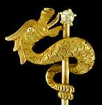 Carter, Howe serpent and diamond stickpin. (J9209)