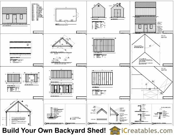 How much does it cost to build a 12x16 shed cost of for How much do blueprints cost