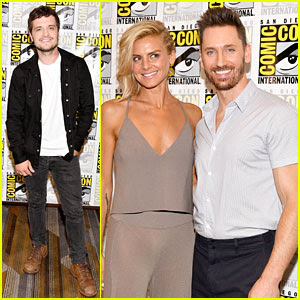 Josh Hutcherson & Eliza Coupe Bring 'Future Man' To San Diego Comic-Con