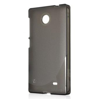 Harga Ahha Moya Gummishell for Nokia X Dual Sim Case Hitam Online Terbaik - tokogoa