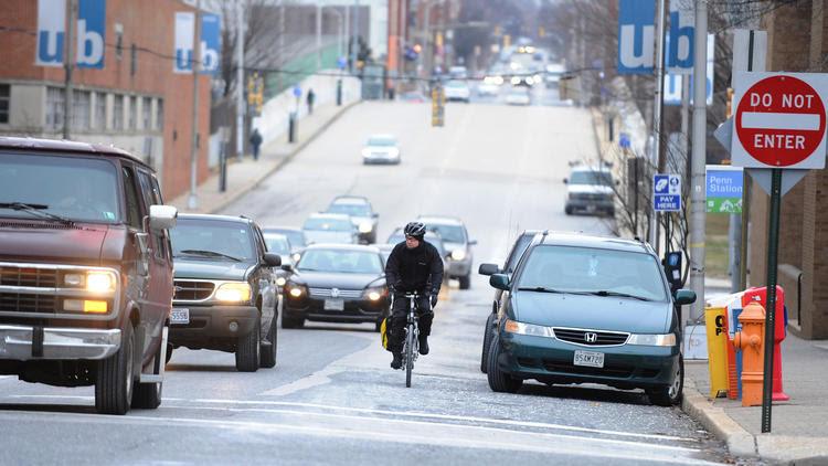 Cyclist on Maryland Avenue