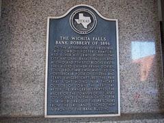 The Wichita Falls Bank Robbery of 1896, Wichit...