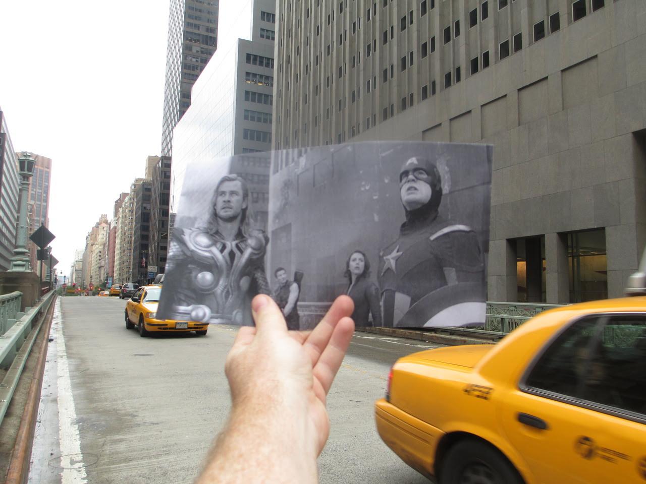 """Montaje fotografías y escenas de la película """"Los Vengadores"""""""