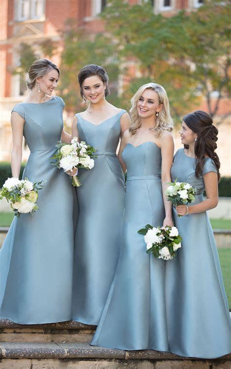 Open Back Bridesmaid Dress with High Neckline   Sorella