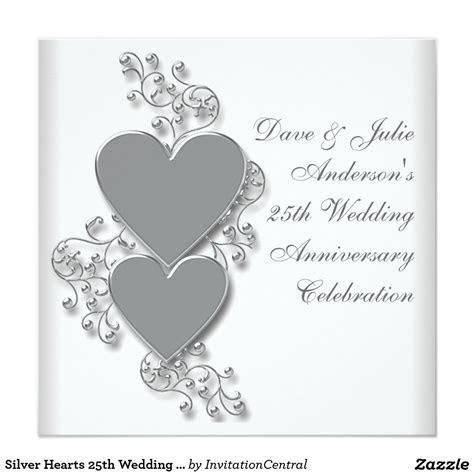 Invitation Cards For 25th Wedding Anniversary