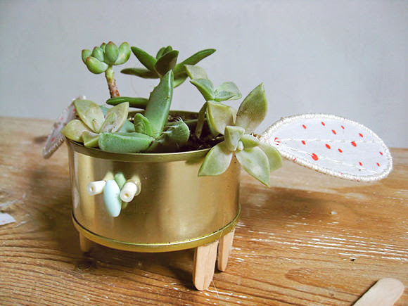 DIY Animal Can Planters