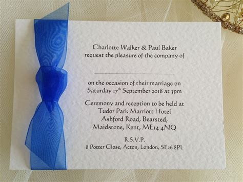 Royal Blue Wedding Invitations   Wedding Invites