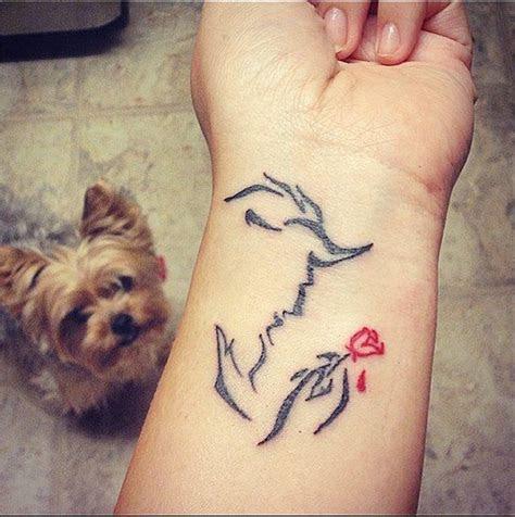 enchanted rose disney inspired tattoos disney